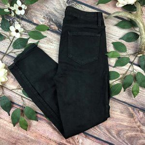 PAIGE Size 28 Waxed Black Hoxton Ankle Skinny Jean